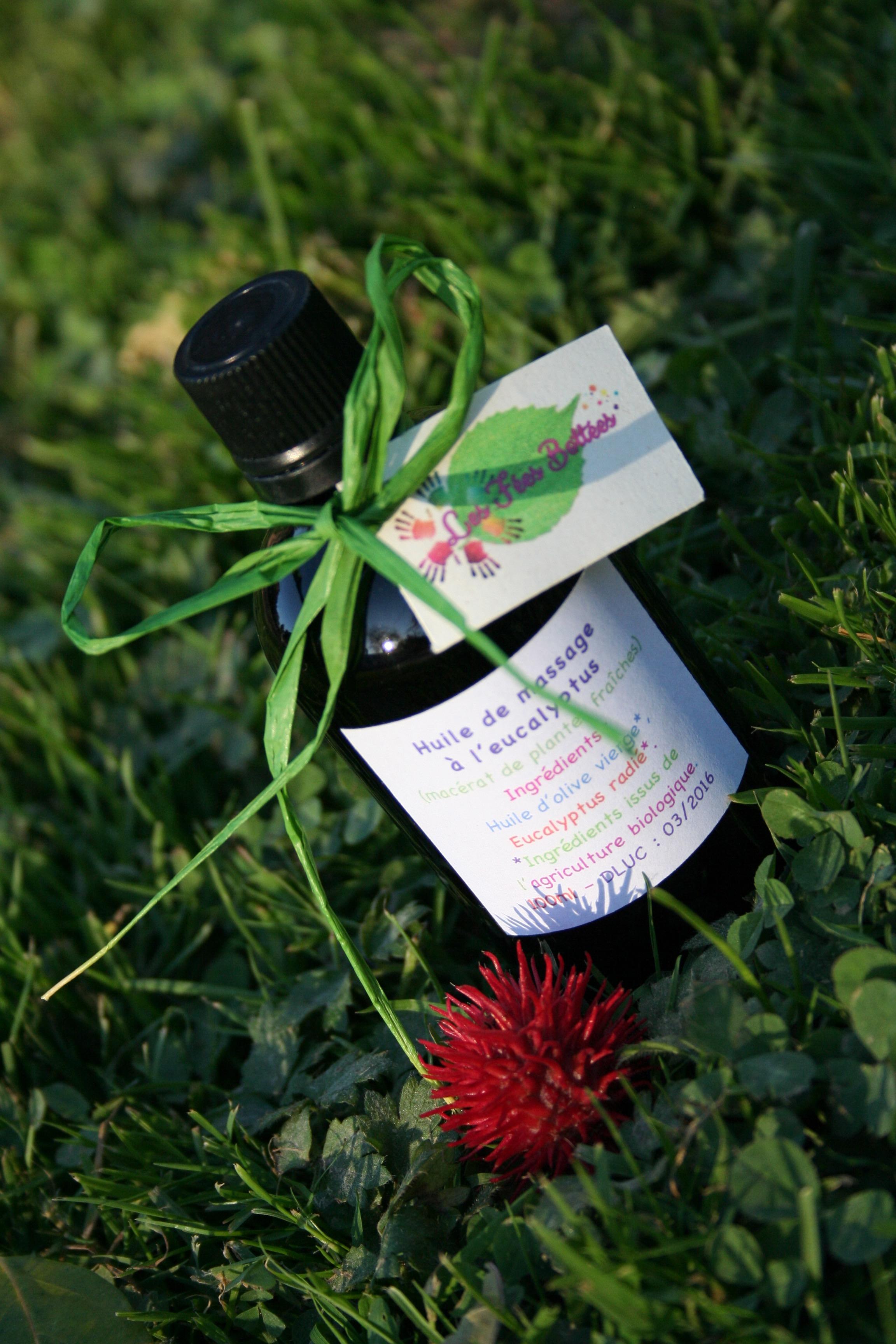 Huile massage eucalyptus radié